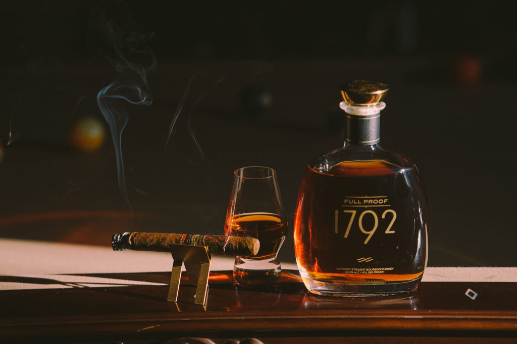 1792 Full Proof Bourbon paired with a Fuente Fuente Opus X Lost City cigar