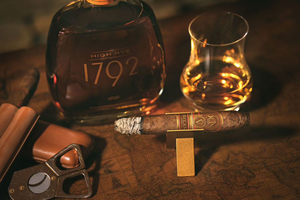 1792 High Rye Bourbon paired with a Oliva Serie V Melanio cigar