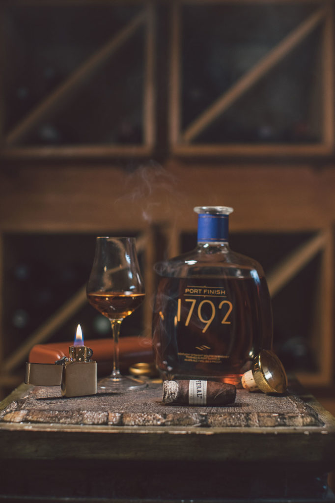 1792 Bourbon Port Finish paired with a Drew Estate Liga Privada Unicos Feral Flying Pig cigar