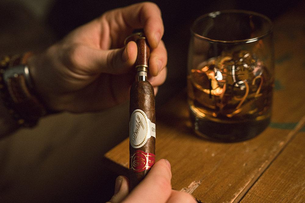 A Davidoff cigar and 1792 Bourbon