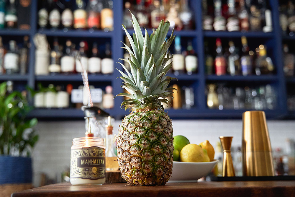 A pineapple dons the bars in Charleston according to Holy City Handcraft